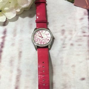 Betsey Johnson Pink Watch with New Battery